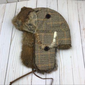 J Crew Wool & Fur Trapper Hat